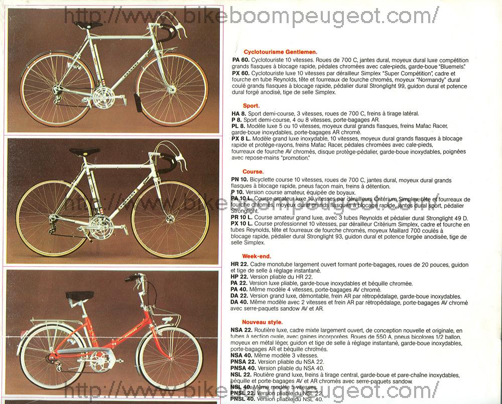 Peugeot PR 10 orange 1970 à 1974 ? Peugeot_1974_Catalog_France_Upper_Right_Panel_BikeBoomPeugeot