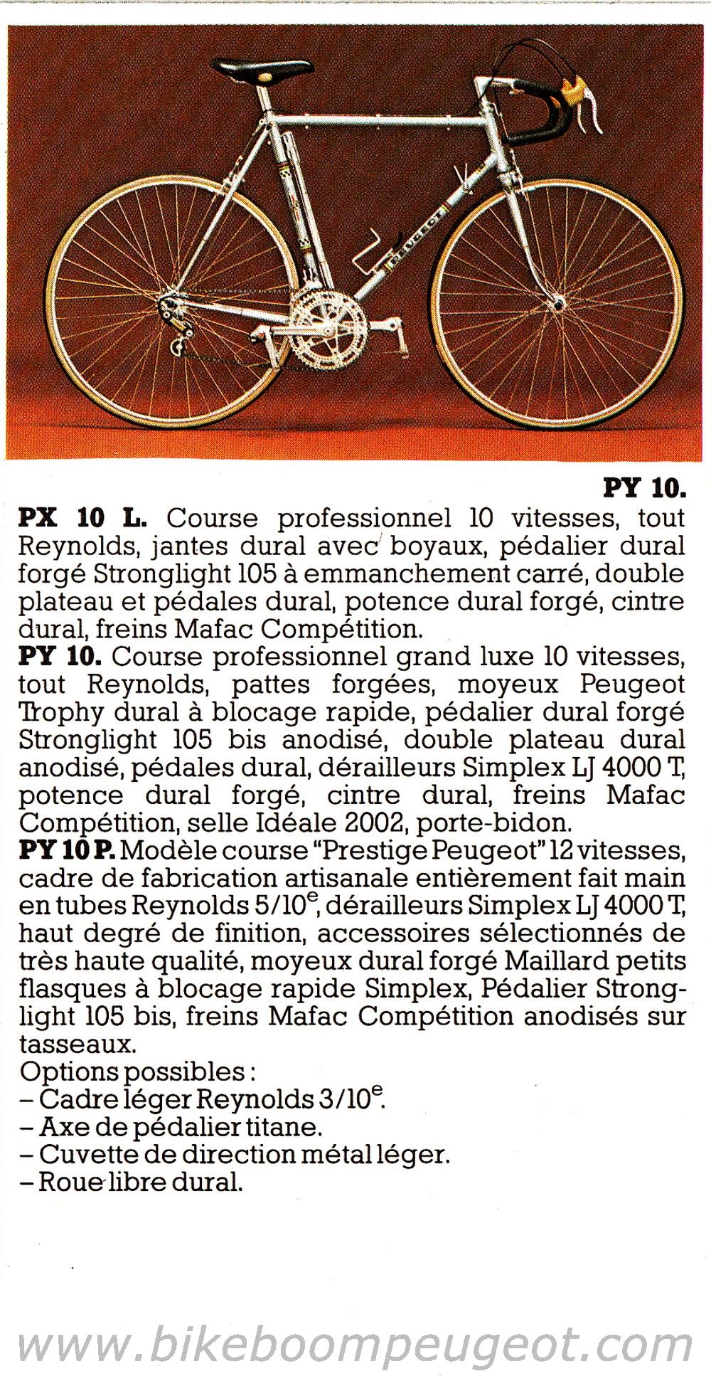 Peugeot PY10 1977 Couleur Or Peugeot%201977%20France%20Brochure%201%20Course%202