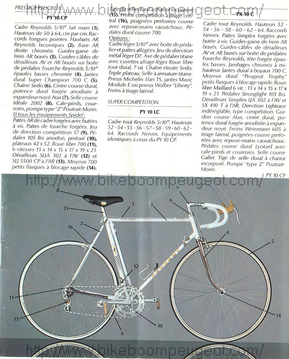 Peugeot Super Competition Full Reynolds 531 Peugeot_1979_French_Full_Brochure_Page4_BikeBoomPeugeot