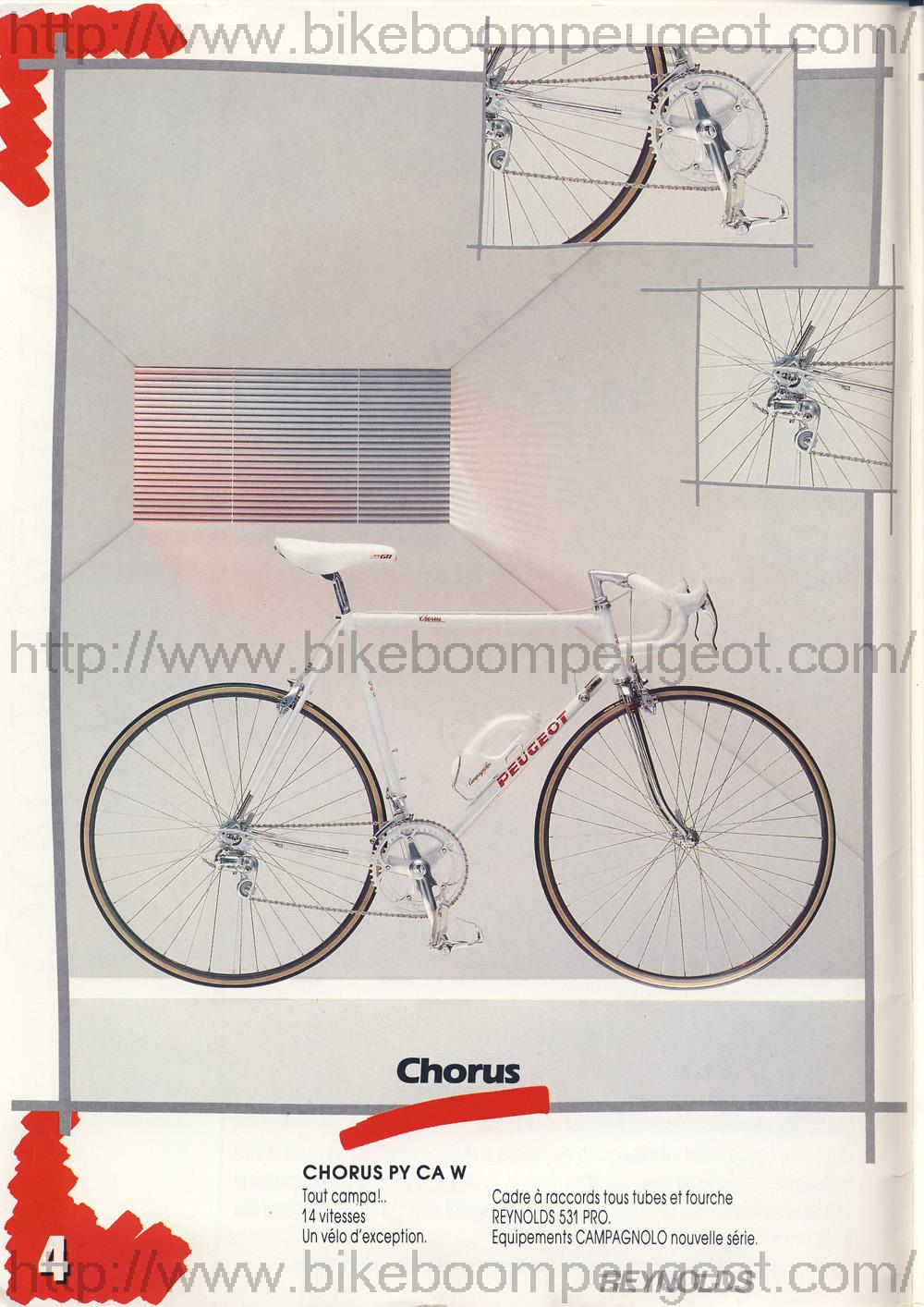 Peugeot Chorus tout Reynolds 753 Peugeot_1987_French_Brochure_Chorus_BikeBoomPeugeot