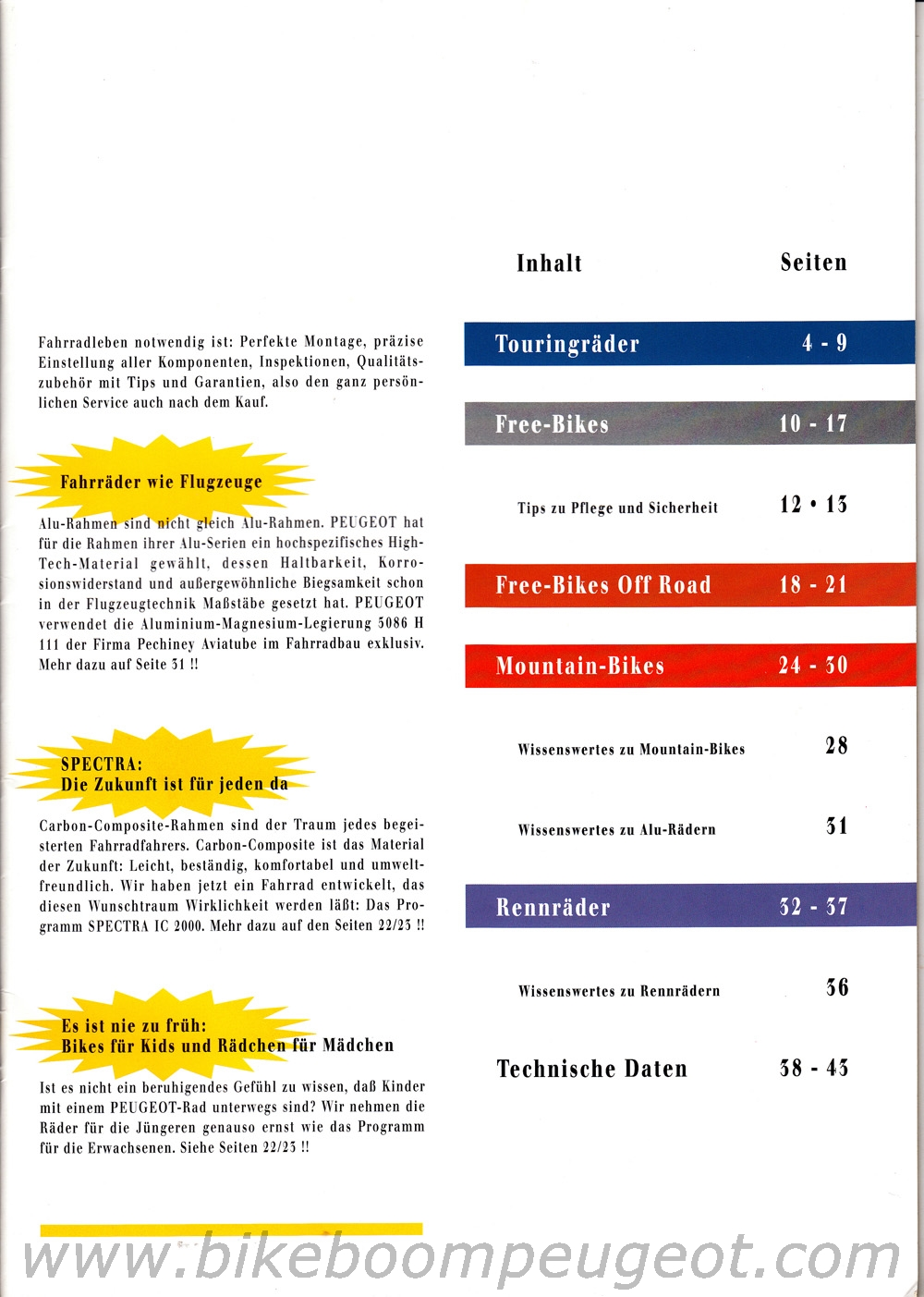 Index of /Brochures Germany/Peugeot 1996 Germany Brochure