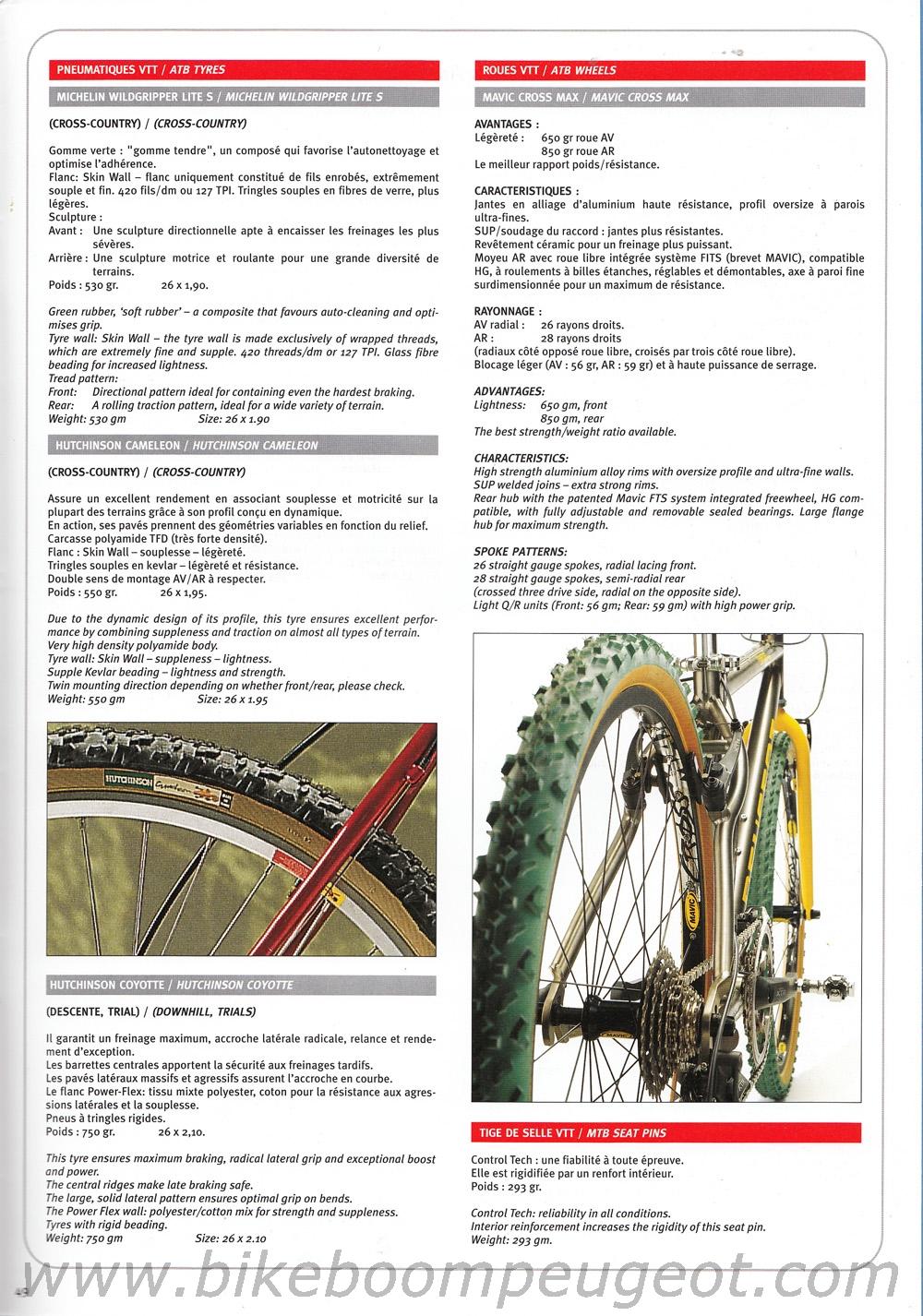 Peugeot 1998 Team Line Brochure