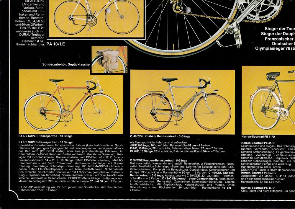 Peugeot 1976 Germany Brochures